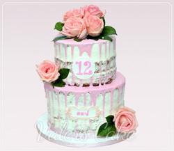 עוגת-בת-מצווה-פרחים