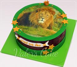 עוגה עם הדפס אריה
