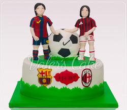 עוגת כדורגל ומסי