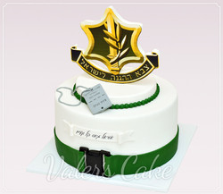 עוגת-צבא-עם-סמל