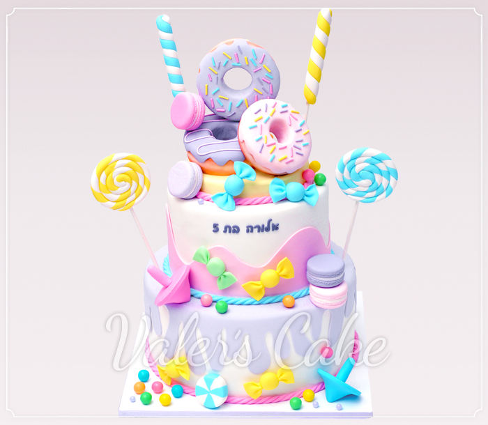 עוגת-ממתקים-ודונאט