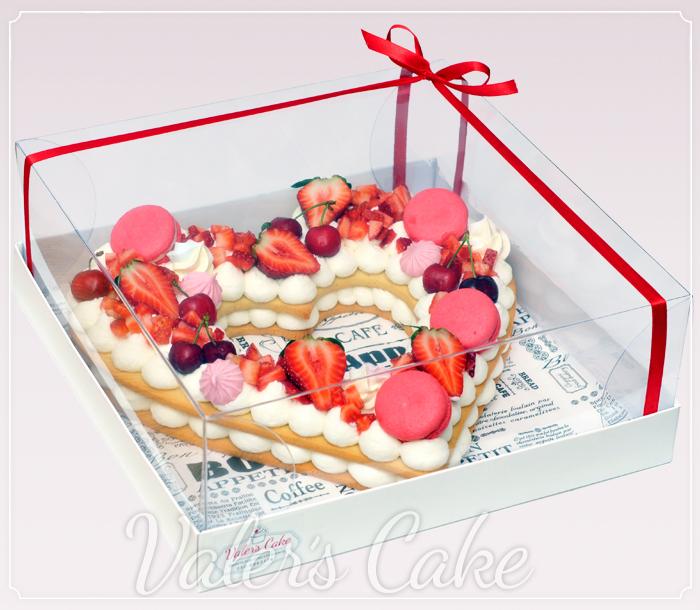 עוגת בצק פריך לב