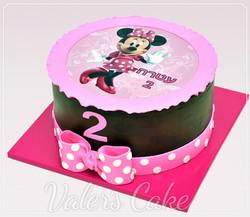 עוגה עם הדפסה מיני מאוס