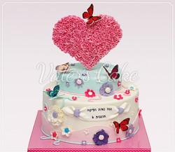 עוגת-לב-ופרפרים