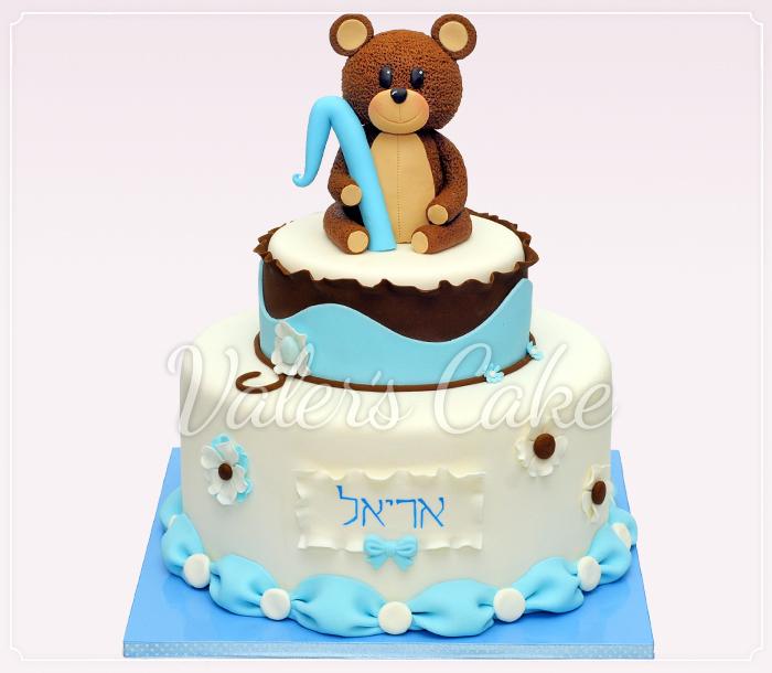 עוגת דובי חום