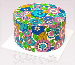 עוגת-הדפס-פרחים
