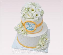 עוגת-חתונה-עם-פרחים