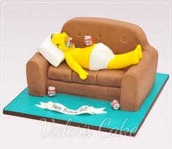עוגת בצק סוכר הומר סימפסון