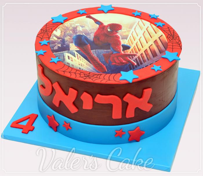 עוגת-ספיידרמן-עם-הדפסה