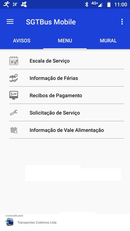 Aplicativo SGTBus Mobile