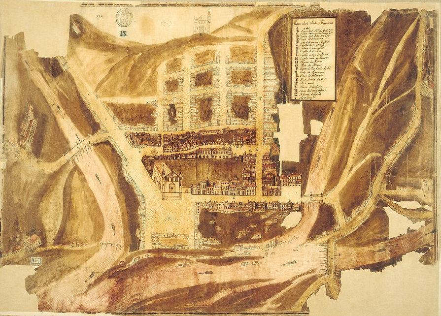 Traçado Urbano de Mariana-Final do séc. XVIII-COMPAT
