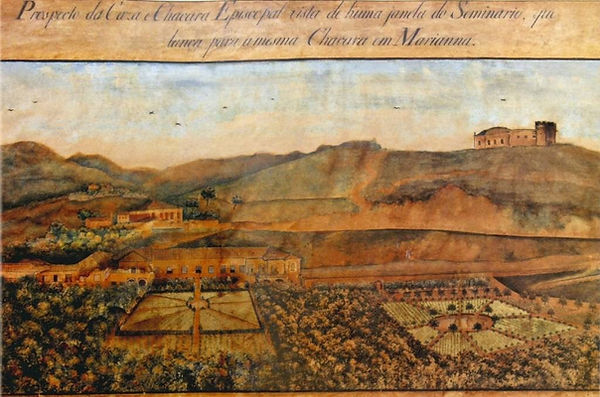Aquarela-1809-Padre José Viegas - Palácio Episcopal-Mariana-Compat