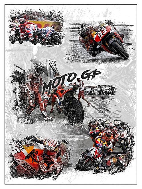 Affiche Moto GP