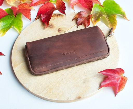 Bezedná peněženka / ořechová čokoláda