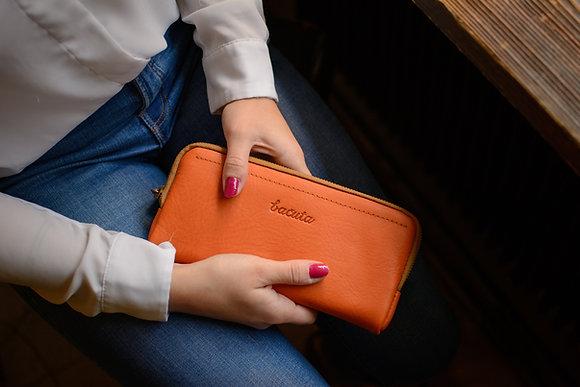 Bezedná peněženka /oranžová