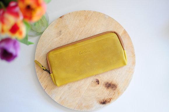 Kopie Bezedná peněženka / citronovo - okrová