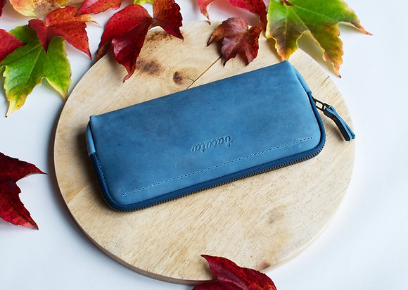 Bezedná peněženka / modrá