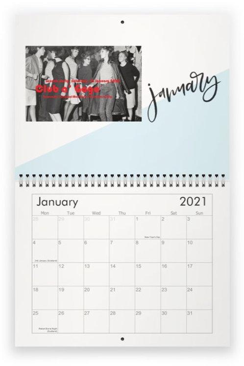 Club a'Gogo 2021 Calendar