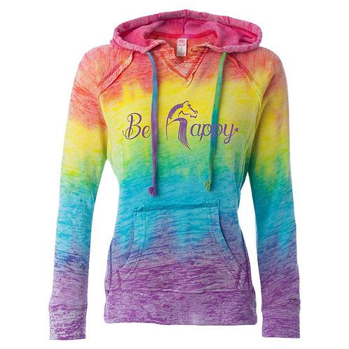 Be Happy Tie Dye Hoodie MSRP: $65