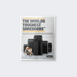 Fellowes® Shredder Print Ad