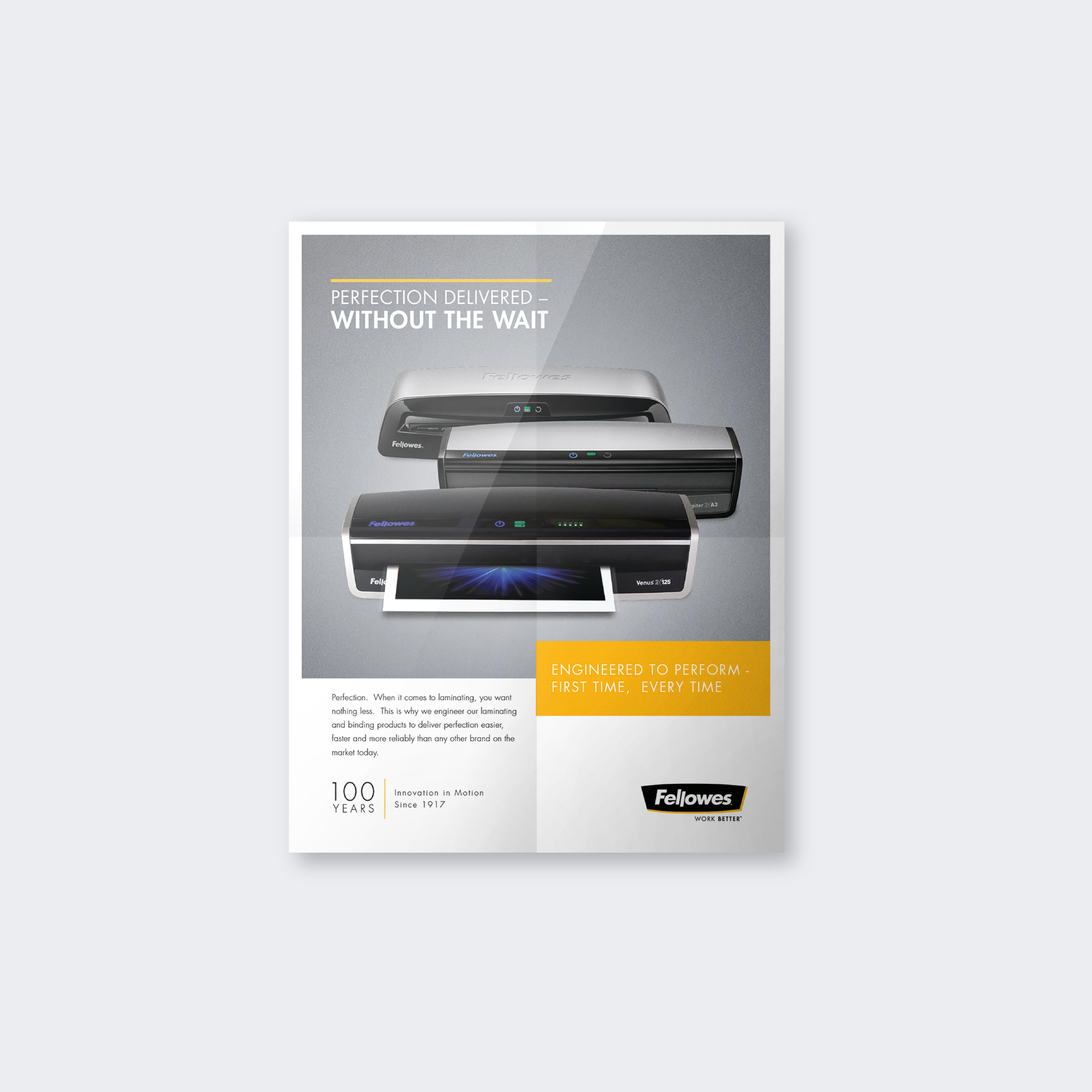 Fellowes® Laminator Print Ad