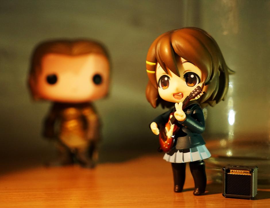 anime figurine with guitar