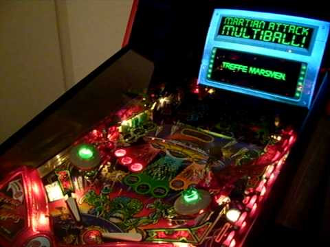machine for revenge of the martians pinball game