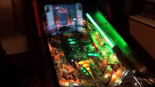 the pinball machine for Star Wars Episode 1 Phantom Menace