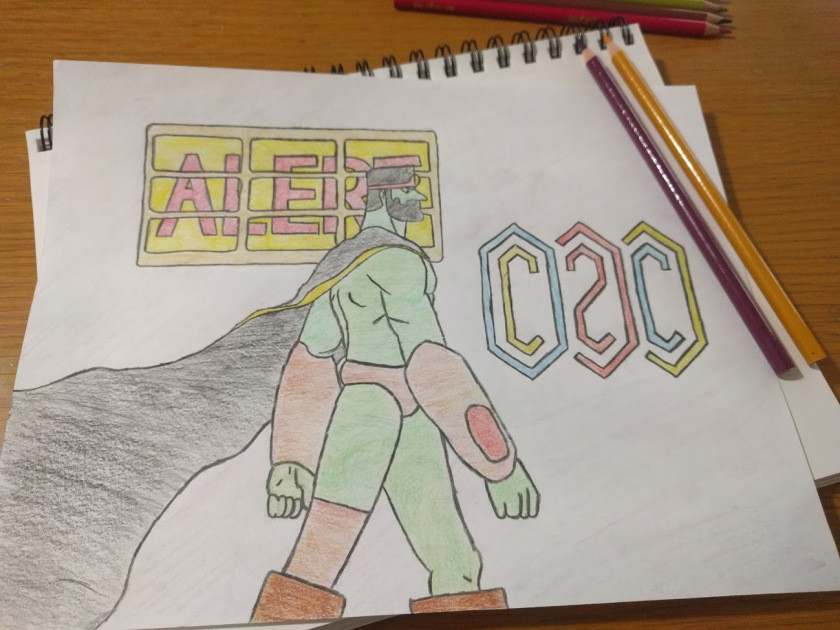 drawn character from the C2C music video Delta