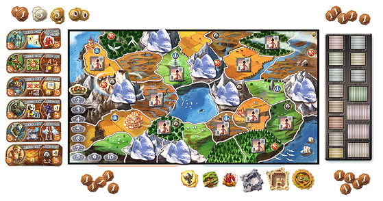 board for the game Small World