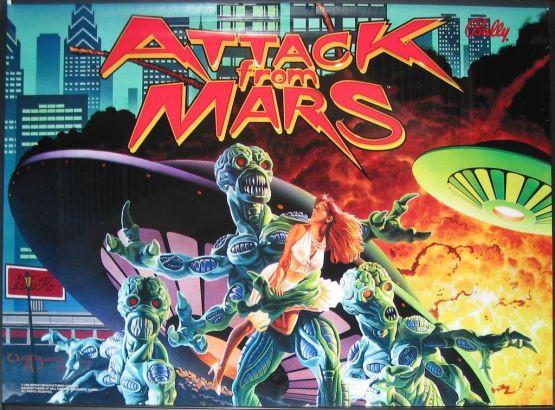 the Attack from Mars pinball machine