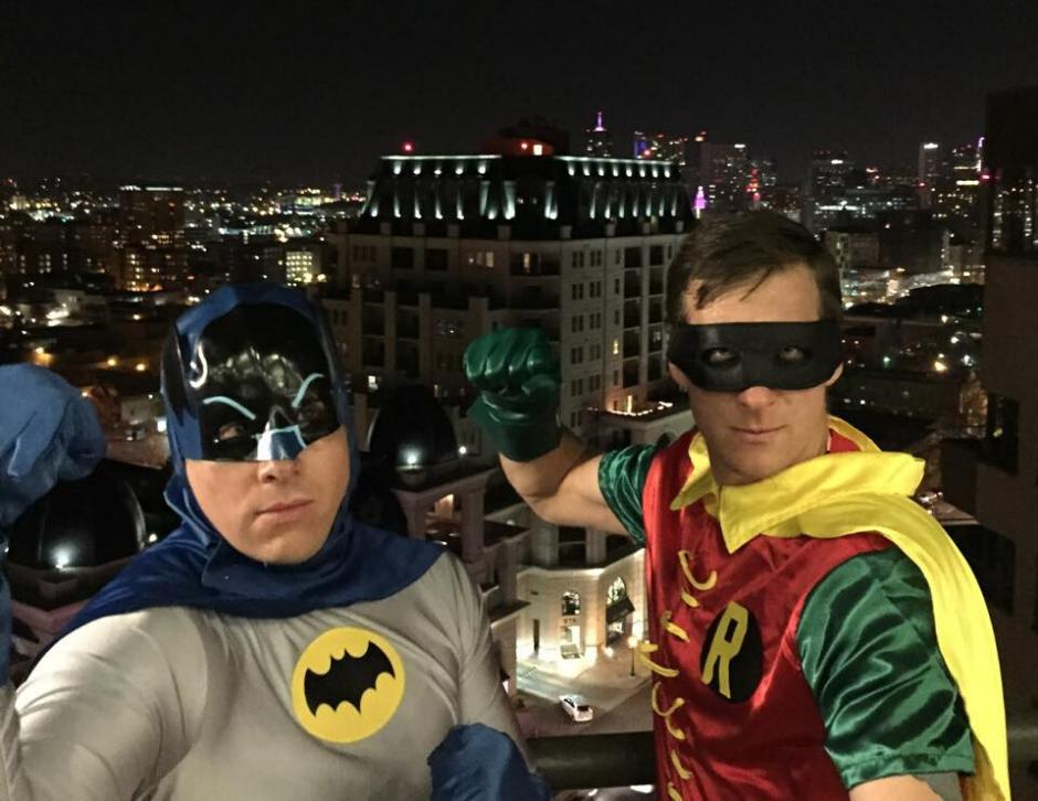 Joel Van Egbert dressed as Batman