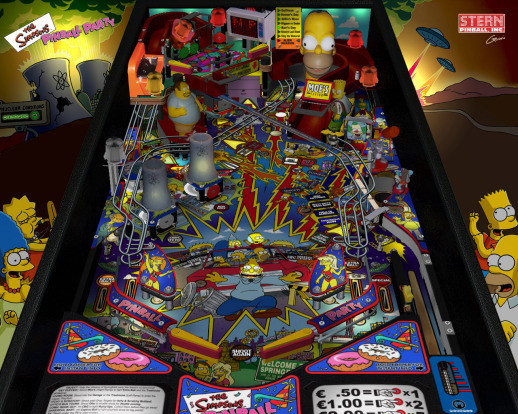 the simpson pinball party machine