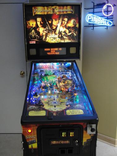 the pirates of the caribbean pinball machine