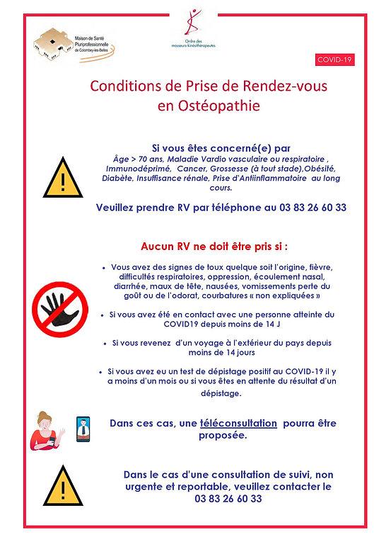 Conditions Prise de Rendez Vous F.MOMPEU