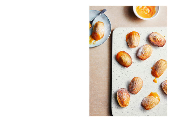 Madeleines with Grapefruit Curd