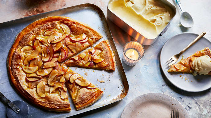 Everything I Know About Love - Apple Marzipan Pizza