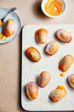 Madelines with Grapefruit Curd