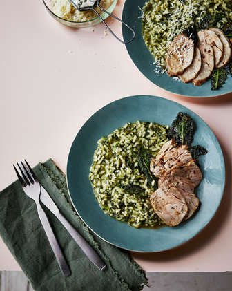 Pork Loin and Risotto - Plated