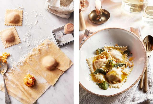 Butternut Squash Ravioli with Sage Butter