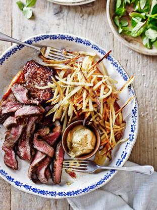 Steak and Parsnip chips less salad.jpg