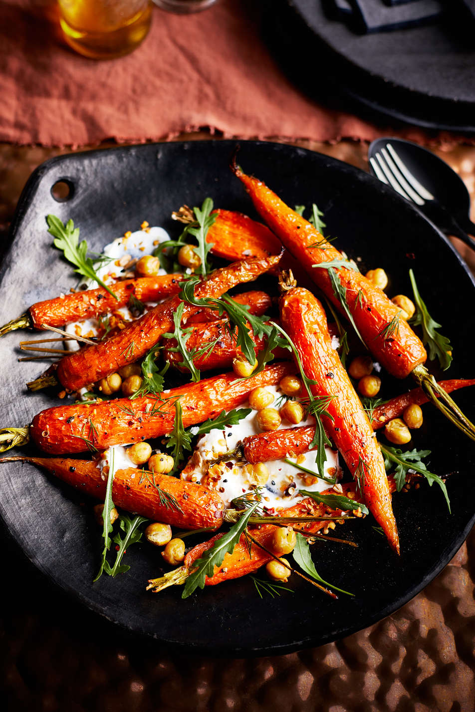 Roasted Carrots Plated