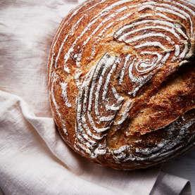 Sourdough Loaf Overhead