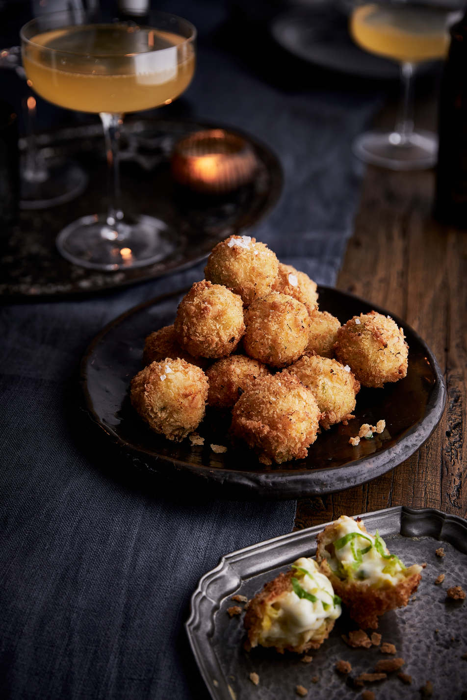 Leek and Black Bomber Croquettes
