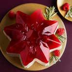 Raspberry Vanilla Pannacotta Star