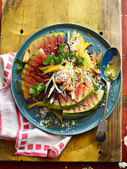 Chargrilled Watermelon and Sunshine Slaw