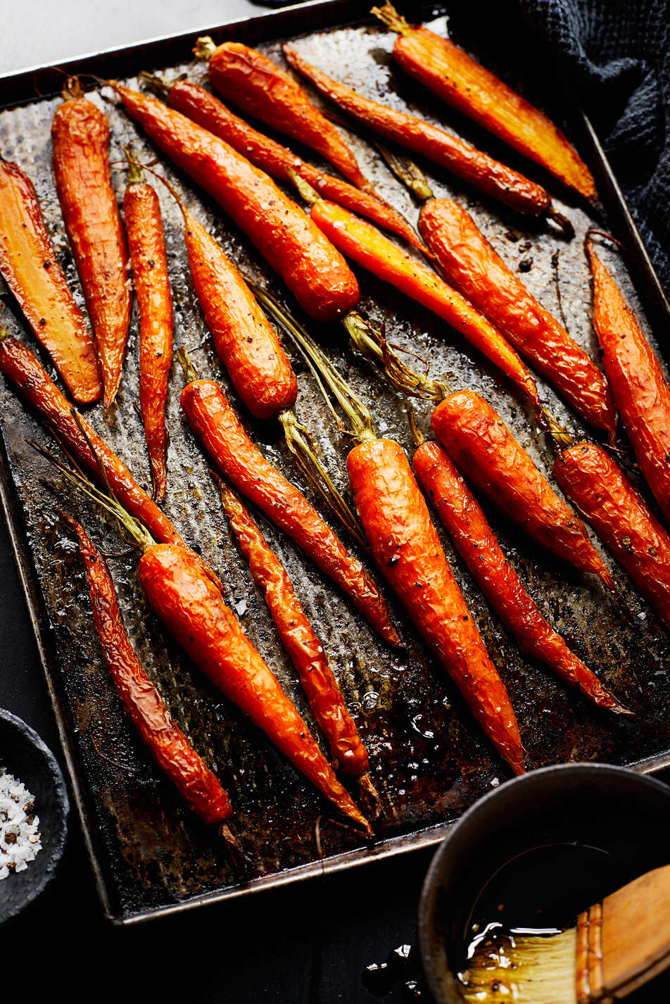 Roasted Carrots in Tray