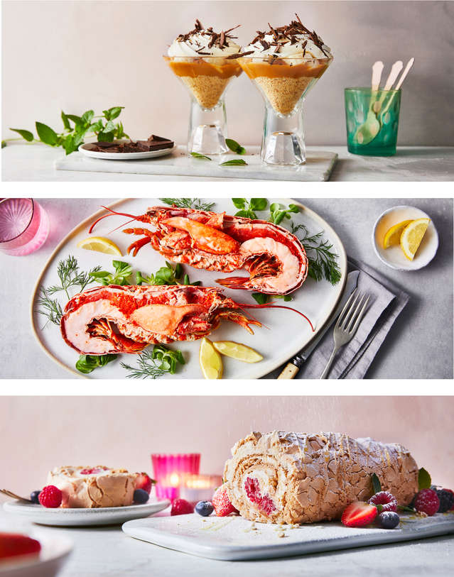 Banoffee Dessert, Lobser, Roulade