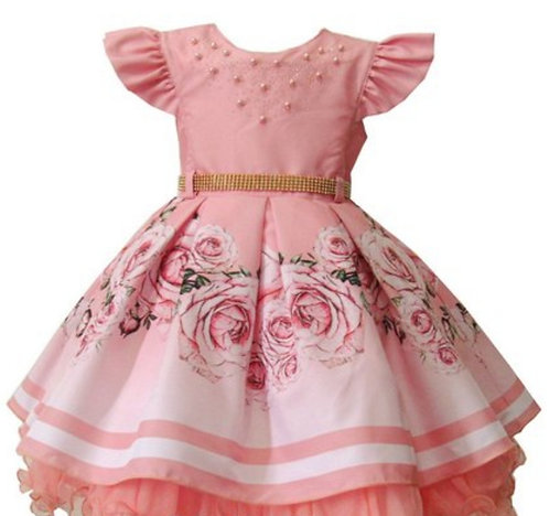 Vestido Menina Bonita Lindas Rosas Cod 1859
