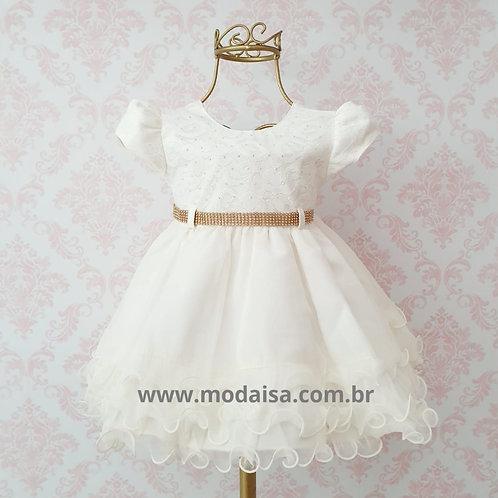 Vestido Menina Bonita Creme Cod 717876
